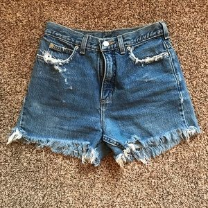 VINTAGE Distressed Jean Shorts